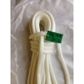 Reel End 13-7, Marlow Doublebraid solid white 14mm, 20.7 Meters