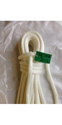 Reel End 13-7, Marlow Doublebraid solid white 14mm, 20.7 Meters