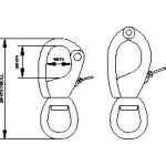 Navtec NSS Snap Shackles - side opening