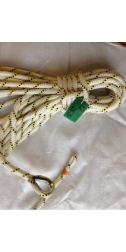 Marlowbraid reel end 13-2 12mm Yellow fleck 28.5 Meters*