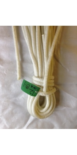 Reel End 13-4, Marlowbraid 12mm Solid white 19 Meters*