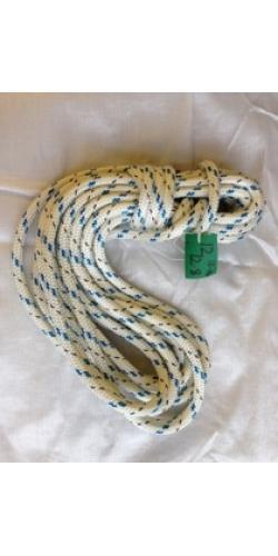 Reel End 13-20, Marlow 12mm Doublebraid - Blue Fleck 12.8 metres